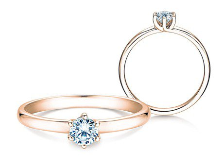 Verlobungsring Melody<br />18K Roségold<br />Diamant 0,40ct