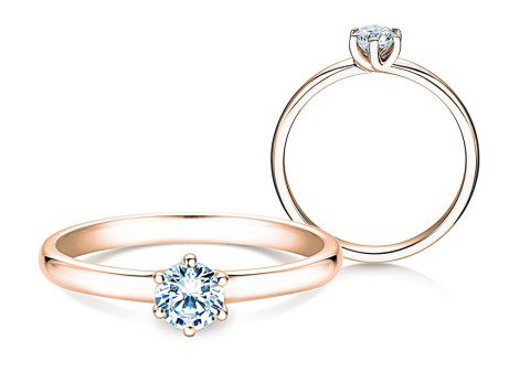 Verlobungsring Melody<br />14K Roségold<br />Diamant 0,50ct
