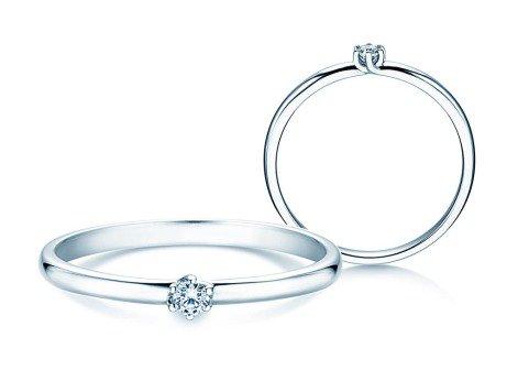 Verlobungsring Melody in 14K Weißgold mit Diamant 0,05ct