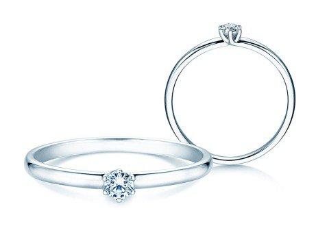 Verlobungsring Melody in 14K Weißgold mit Diamant 0,10ct
