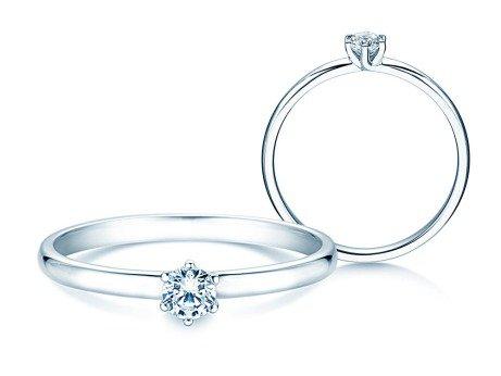 Verlobungsring Melody<br />18K Weißgold<br />Diamant 0,15ct