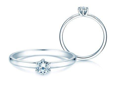 Verlobungsring Melody in 14K Weißgold mit Diamant 0,25ct