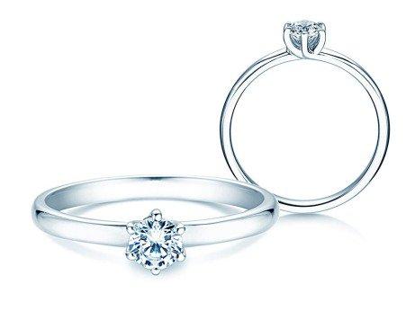 Verlobungsring Melody<br />14K Weißgold<br />Diamant 0,40ct