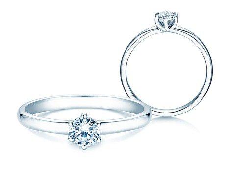 Verlobungsring Melody<br />18K Weißgold<br />Diamant 0,50ct