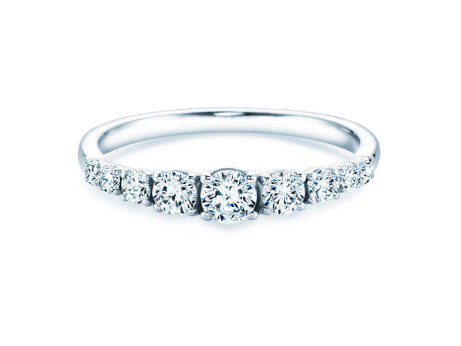 9 Diamonds in Platin mit Diamant 0,43ct