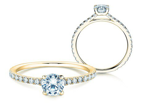Diamantring Pure Diamond in 14k Gelbgold mit Diamanten 0,82ct