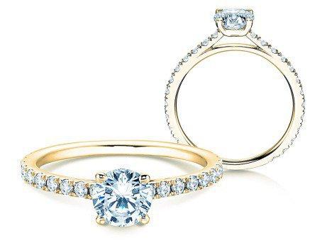 Diamantring Pure Diamond<br />18k Gelbgold<br />Diamanten 1,17ct