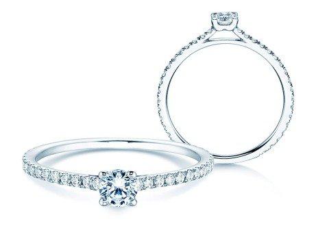 Diamantring Pure Diamond in Platin mit Diamanten 0,54ct