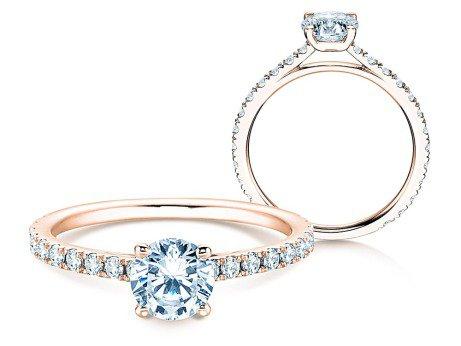 Diamantring Pure Diamond in 18k Rosegold mit Diamanten 1,17ct