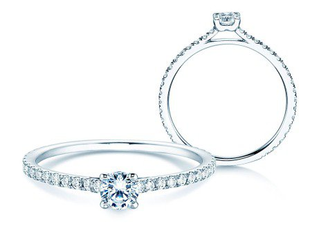 Diamantring Pure Diamond in 18k Weißgold mit Diamanten 0,49ct
