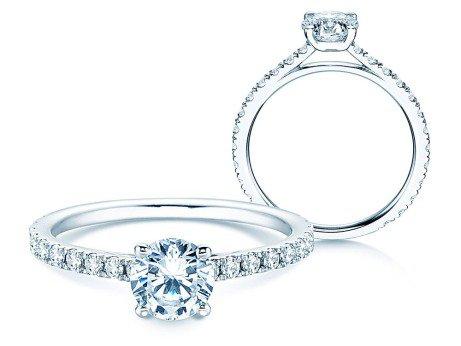 Diamantring Pure Diamond<br />14k Weißgold<br />Diamanten 1,17ct