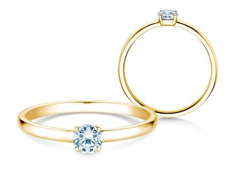 Verlobungsring Pure<br />14k Gelbgold<br />Diamant 0,23ct