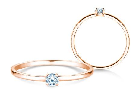 Verlobungsring Pure<br />14k Roségold<br />Diamant 0,08ct