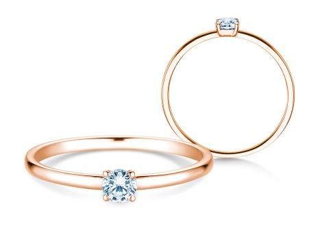 Verlobungsring Pure<br />14k Roségold<br />Diamant 0,13ct
