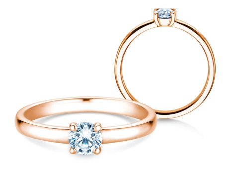 Verlobungsring Pure<br />14k Roségold<br />Diamant 0,30ct
