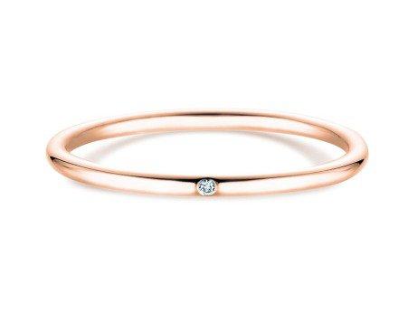 Verlobungsring Promise Petite in 14K Roségold mit Diamant 0,005ct