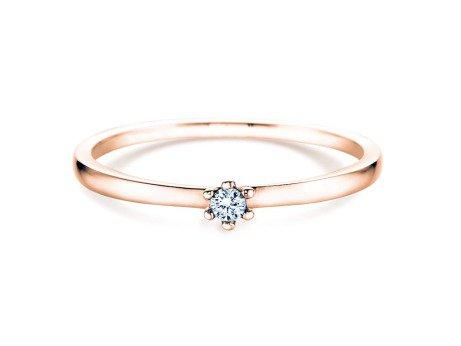 Verlobungsring Classic Petite<br />14K Roségold<br />Diamant 0,09ct