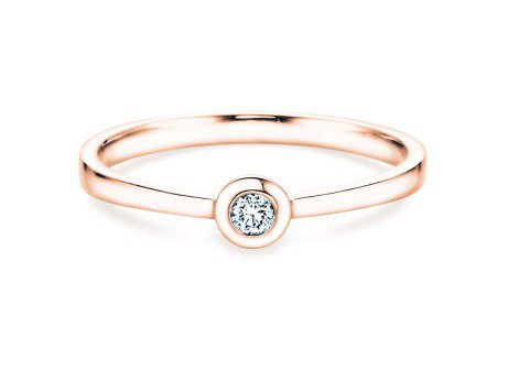 Solitärring Eternal Petite<br />14K Roségold<br />Diamant 0,05ct