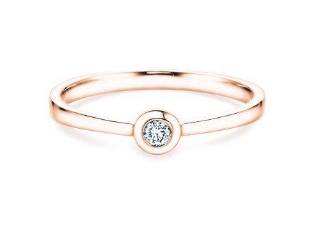 Solitärring Eternal Petite<br />18K Roségold<br />Diamant 0,05ct