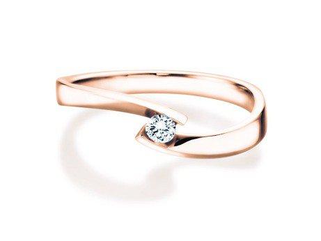 Verlobungsring Twist Petite<br />14K Roségold<br />Diamant 0,09ct in Ringweite 54