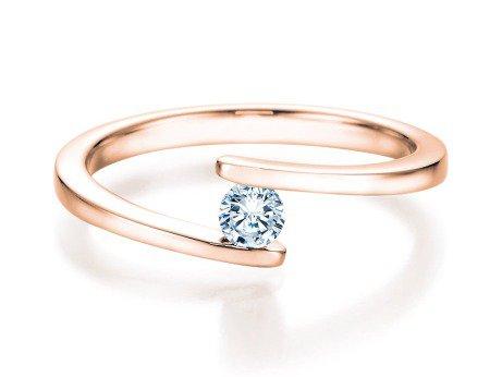 Spannring Split<br />14K Roségold<br />Diamant 0,15ct