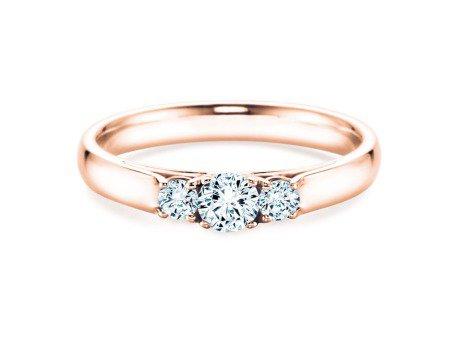 Verlobungsring 3 Stones<br />18K Roségold<br />Diamant 0,75ct