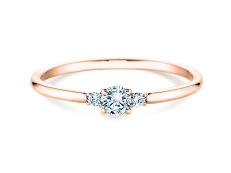 Verlobungsring Glory Petite<br />18K Roségold<br />Diamanten 0,10ct