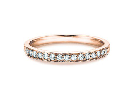 Alliance-/Eternity-Ring in 14K Roségold mit Diamant 0,39ct
