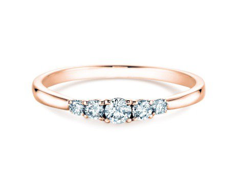 Verlobungsring 5 Diamonds<br />14K Roségold<br />Diamant 0,40ct