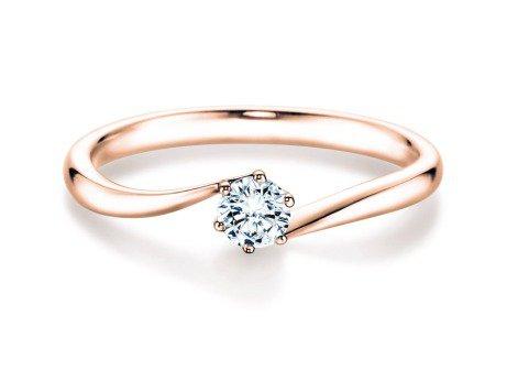 Verlobungsring Devotion<br />14K Roségold<br />Diamant 0,25ct