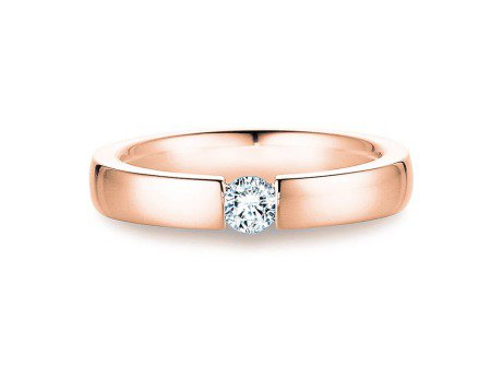 Verlobungsring Infinity<br />18K Roségold<br />Diamant 0,03ct
