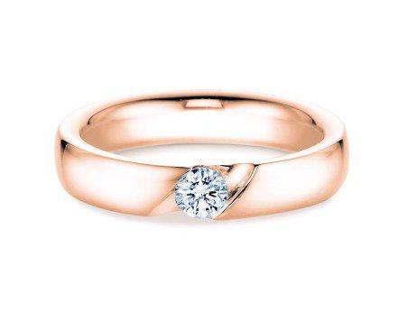 Verlobungsring Italic<br />14K Roségold<br />Diamant 0,03ct