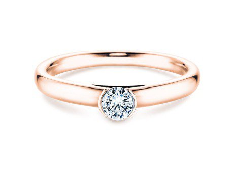 Solitärring Perfection<br />18K Roségold<br />Diamant 0,25ct