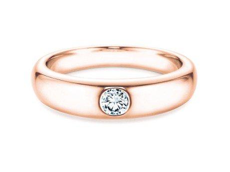 Verlobungsring Promise in 14K Roségold mit Diamant 0,15ct