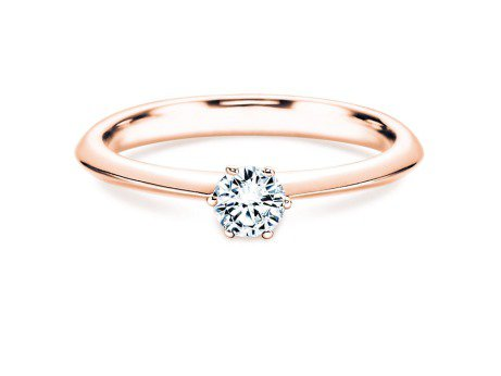 Solitärring The One<br />14K Roségold<br />Diamant 0,25ct