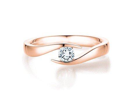Verlobungsring Twist in 14K Roségold mit Diamant 0,07ct
