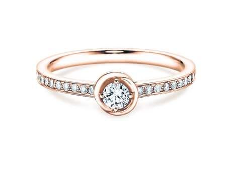 Verlobungsring Dawn<br />14K Roségold<br />Diamant 0,70ct