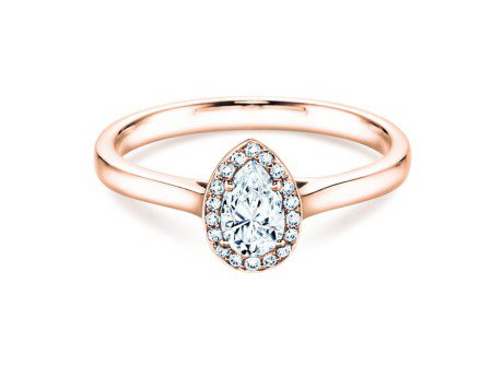 Verlobungsring Pear Shape in 14K Roségold mit Diamant 0,50ct