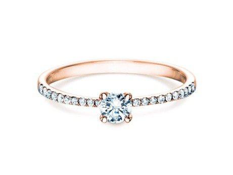 Verlobungsring Grace Petite in 18K Roségold mit Diamant 0,43ct