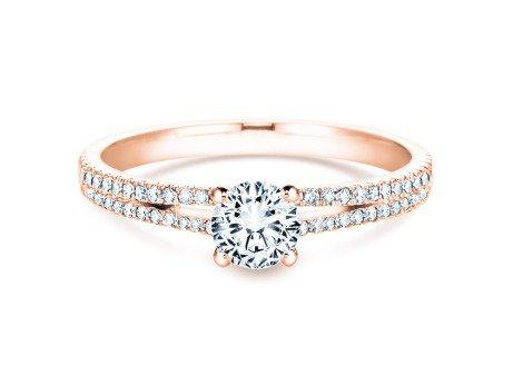 Verlobungsring Dynasty Petite<br />18K Roségold<br />Diamant 0,85ct
