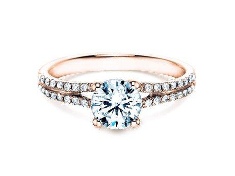 Verlobungsring Dynasty<br />18K Roségold<br />Diamant 1,27ct