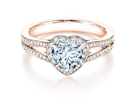 Verlobungsring Flame<br />18K Roségold<br />Diamant 1,54ct