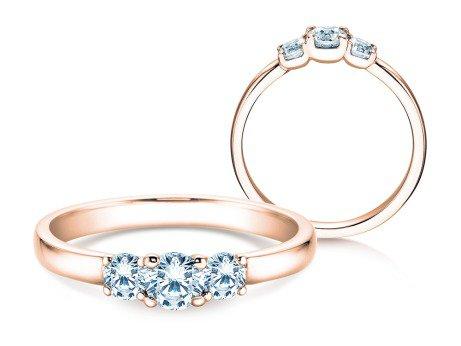 Verlobungsring Glory Petite<br />14K Roségold<br />Diamanten 0,50ct