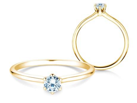 Verlobungsring Royal<br />18k Gelbgold<br />Diamant 0,25ct