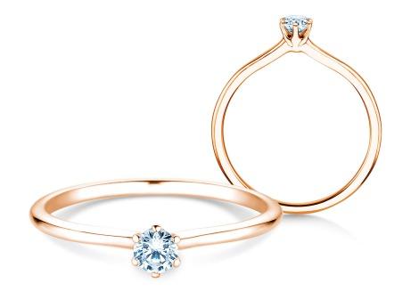 Verlobungsring Royal<br />18k Roségold<br />Diamant 0,15ct