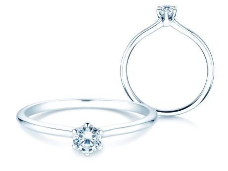 Verlobungsring Royal<br />18k Weißgold<br />Diamant 0,25ct
