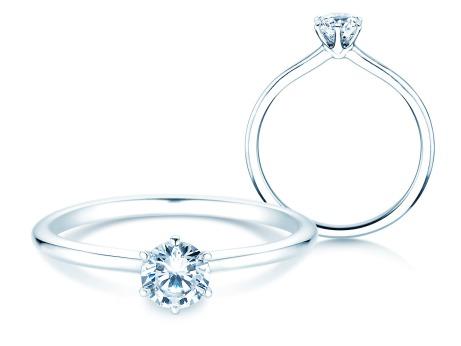 Verlobungsring Royal<br />14k Weißgold<br />Diamant 0,30ct