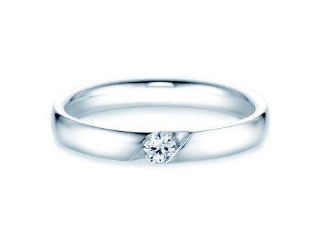 Verlobungsring Italic<br />Silber<br />Diamant 0,10ct