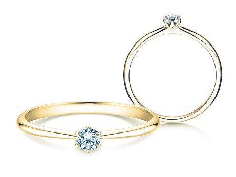 Verlobungsring Spirit<br />18K Gelbgold<br />Diamant 0,20ct