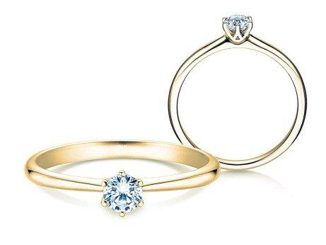 Verlobungsring Spirit<br />18K Gelbgold<br />Diamant 0,25ct